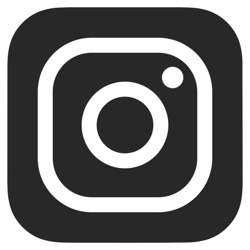 Black And White, Dark Grey, Instagram Icon