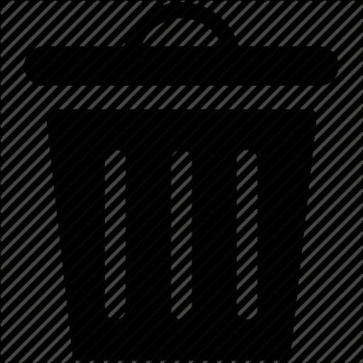 Garbage Bin, Garbage Can, Garbage Container, Trash Bin, Trash Can Icon