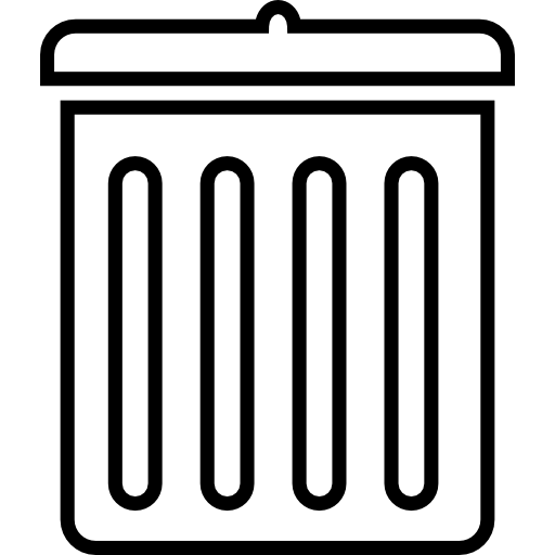 Trash Can Outline