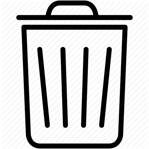 Bin, Delete, Dustbin, Garbage, Recycle, Remove, Trashcan Icon