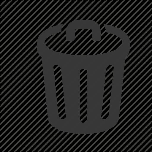 Bin, Trash Can, Waste Icon