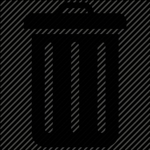 Bin, Can, Garbage, Trash Icon