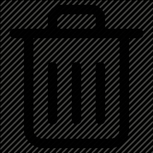 Bin, Email, Trash Icon