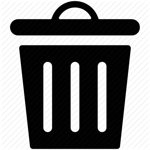 Garbage Bin, Garbage Can, Garbage Container, Trash Bin, Trash Can Icon