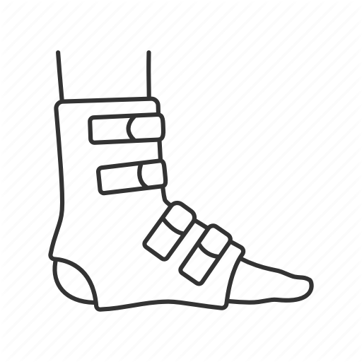 Ankle, Feet, Foot, Injury, Joint Bandage, Leg, Trauma Icon