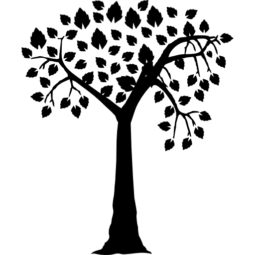 Romantic Tree Shape With Heart Shaped Leaves