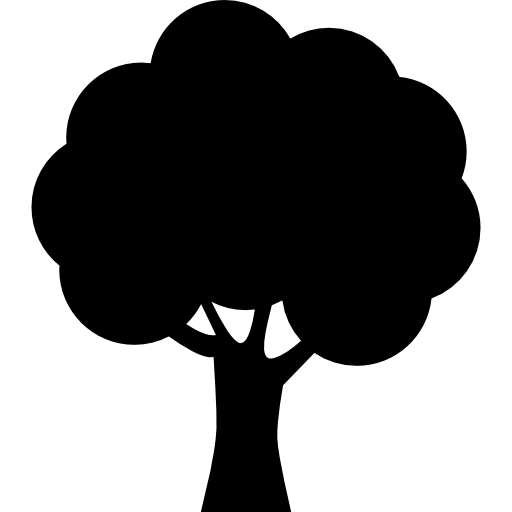 Tree Silhouette Icons Free Download