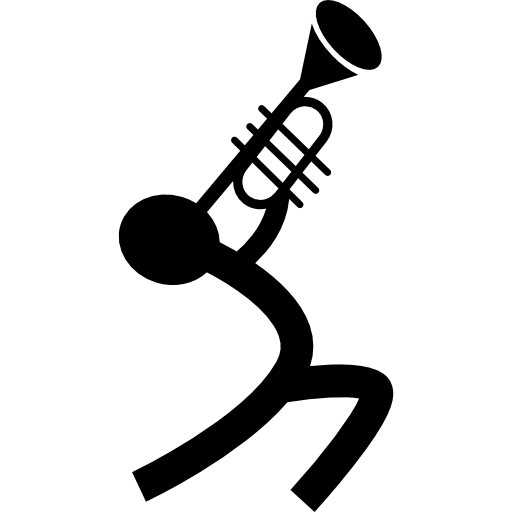 Musician Playing A Trumpet Icons Free Download