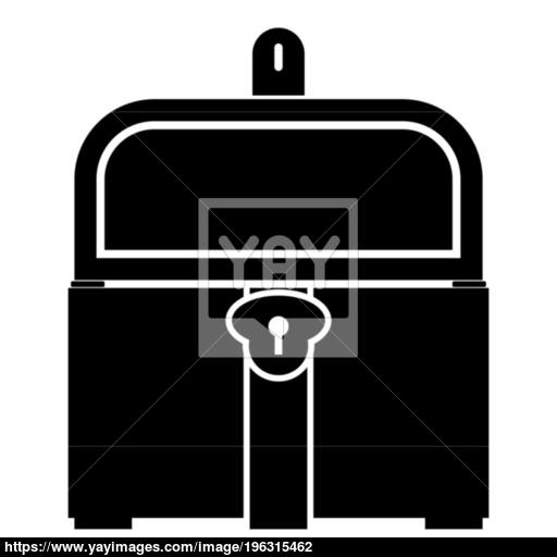 Kist Or Trunk Icon Black Color Illustration Flat Style Simple