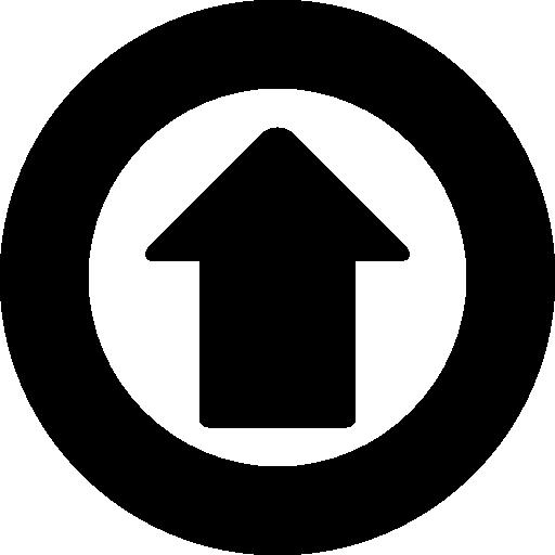Up Arrow Inside A Gross Circle