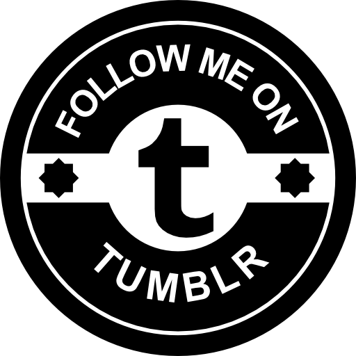 Follow Me On Tumblr Social Badge Icons Free Download