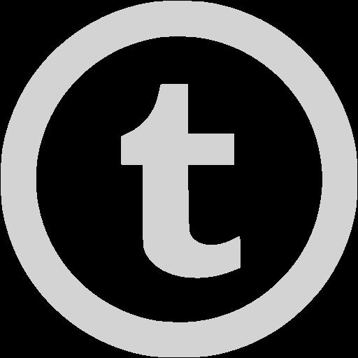 Light Gray Tumblr Icon