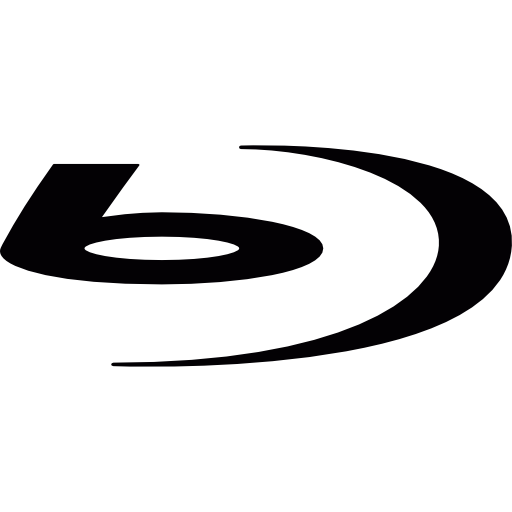 Black Blu Ray Logo Icon