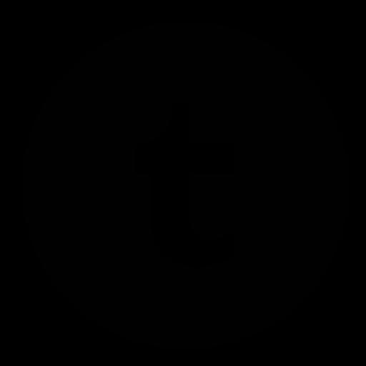 Black Circle Tumblr Logo Icon