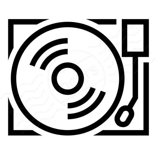 Iconexperience I Collection Record Player Icon