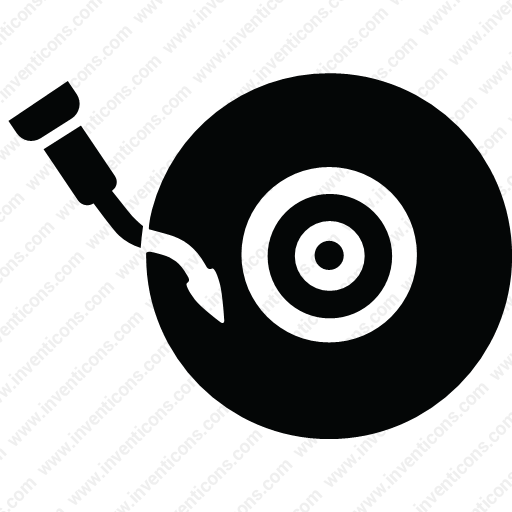 Download Music,player,record,turntable,vinil Icon Inventicons