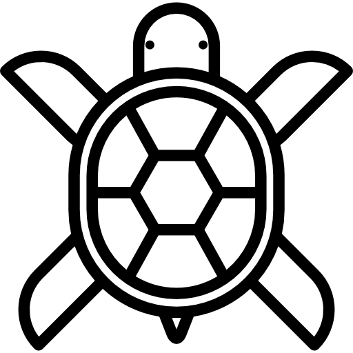 Turtle Flat Black Icon