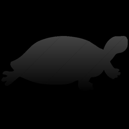 Simple Black Gradient Animals Turtle Icon
