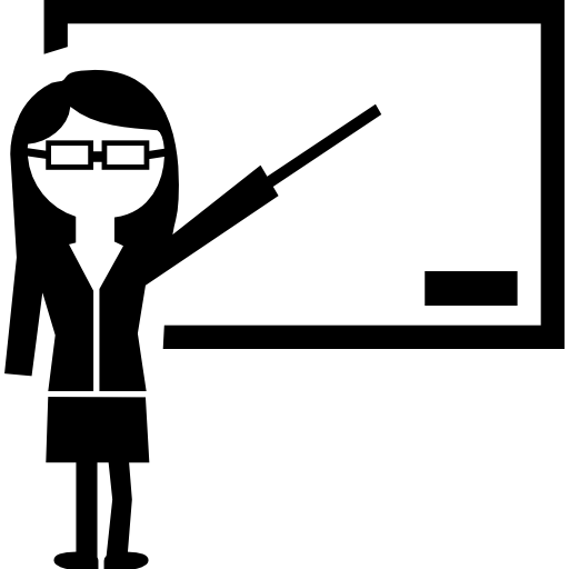 Teacher Showing On Whiteboard Icons Free Download
