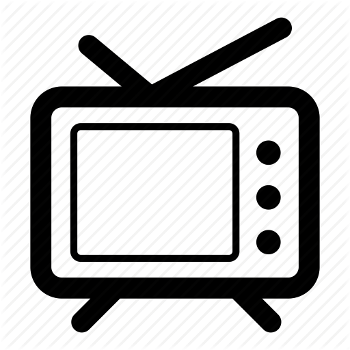 Television, Telly, Tv, Tv Set Icon