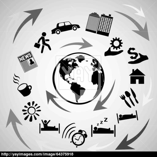 Vector Concept Of Human Life Icons Vector