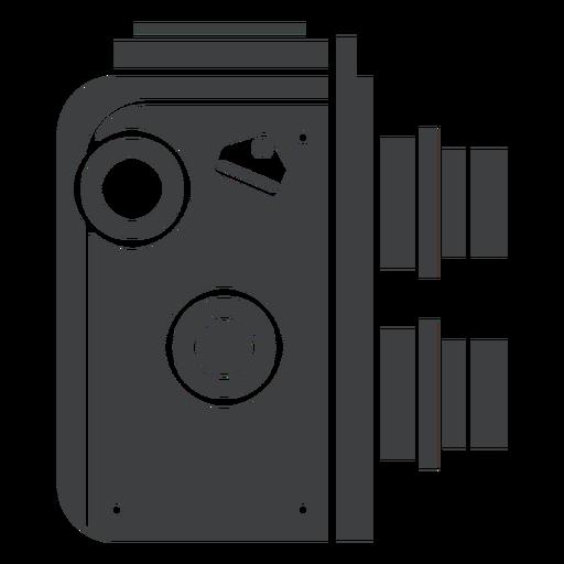 Twin Lens Camera Grey Icon