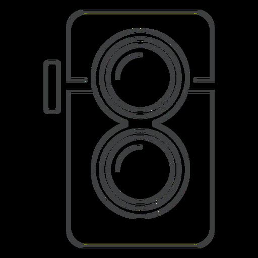 Twin Lens Camera Stroke Icon