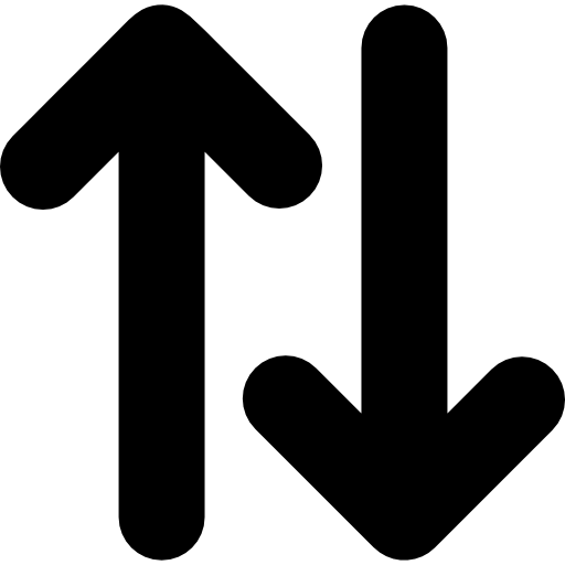 Up And Down Opposite Double Arrows Side