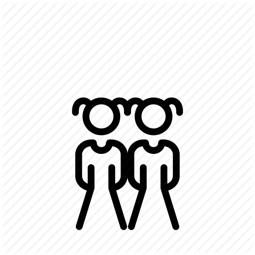 Children, Couple, Girls, Pair, People, Person, Twins Icon
