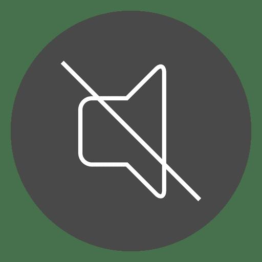 Mute Button Circle Icon