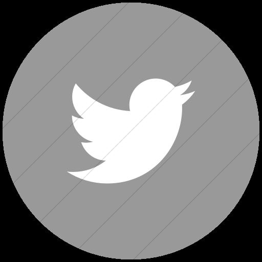 Flat Circle White On Light Gray Social Media Twitter Icon