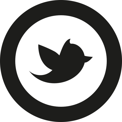 Social Media Twitter Black Icon