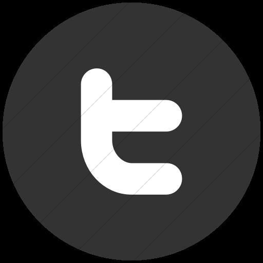 Flat Circle White On Dark Gray Raphael Twitter Icon