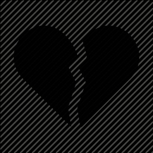Broken, Broken Heart, Heart, Love, Romance, Romantic, Valentine Icon