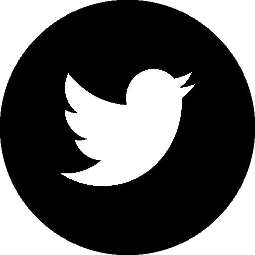 Twitter Logo In Circular Black Button