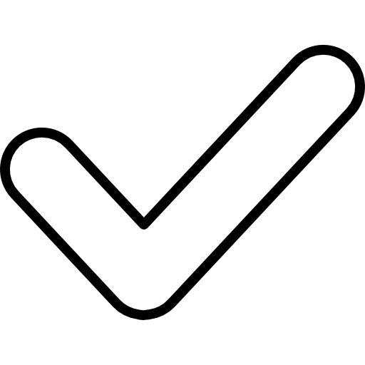 Checkmark Outlined Verification Sign
