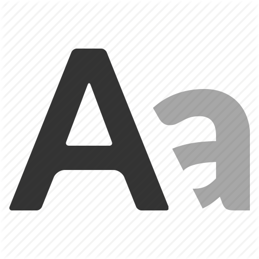 Alphabet, Font, Fonts, Letter, Text, Typography Icon