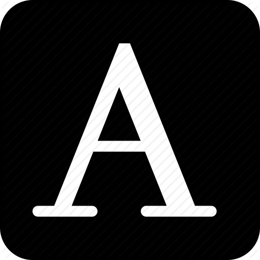Capital, Letter, Text, Typography Icon