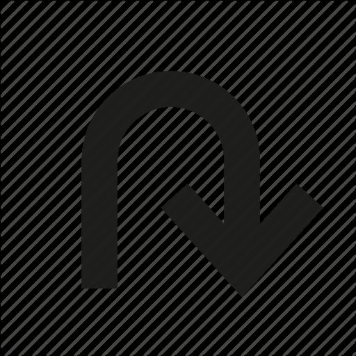 Arrow, Change, Curve, Round, Turing, U Turn Icon