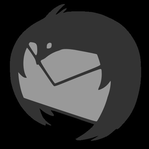 Monnochrome Thunderbird Dock Icon