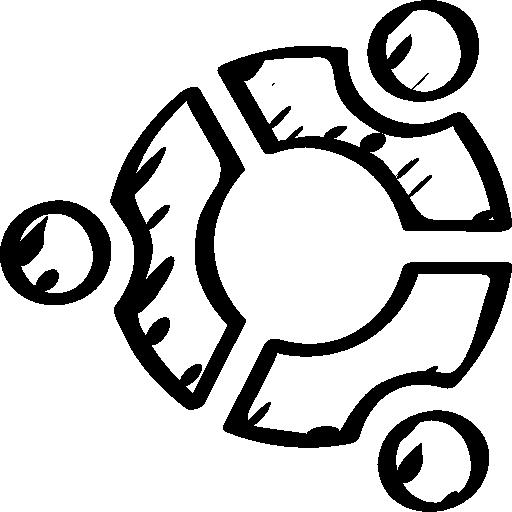 Ubuntu Sketched Logo Icons Free Download