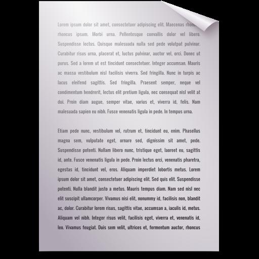 Text, Generic Icon