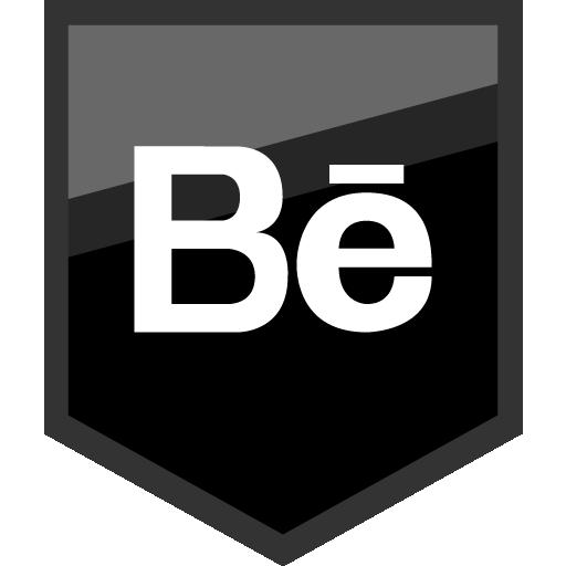 Behance Free Black Shield Social Media Icon