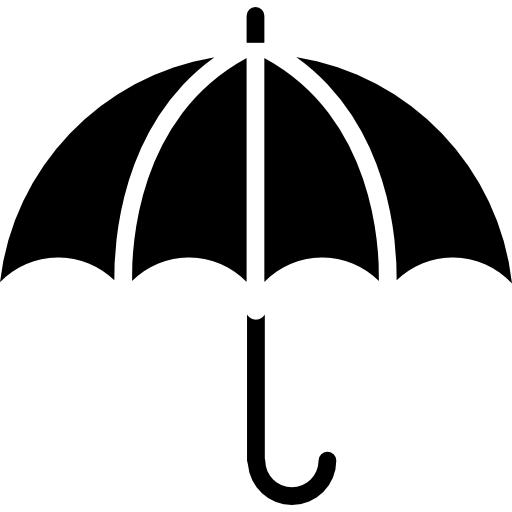 Open Umbrella Outline Icons Free Download