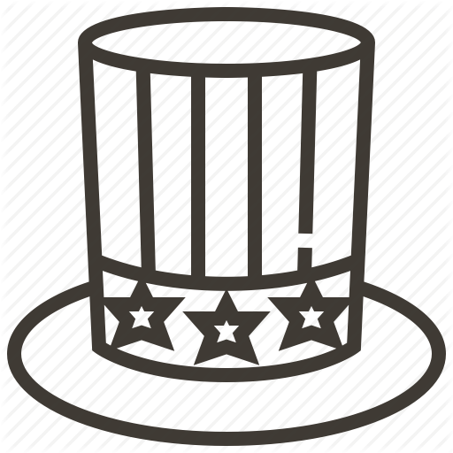 Clothing, Hat, Star, Uncle Sam Icon