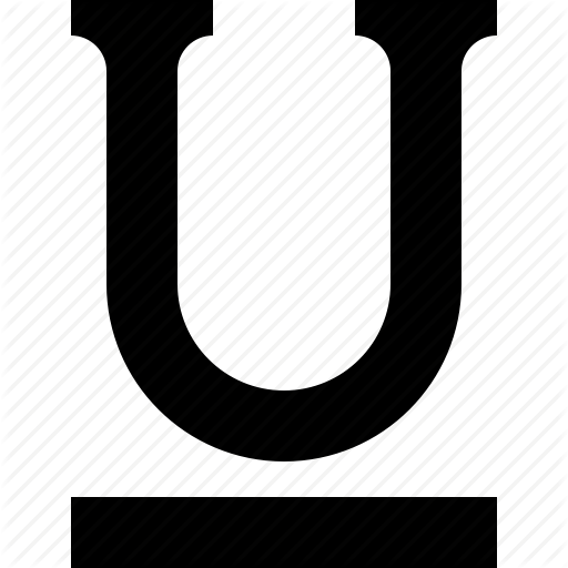 Font, Letter, Style, Text, Underline Icon