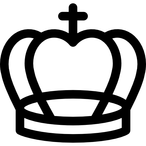 Royal Cross Crown Outline Icons Free Download