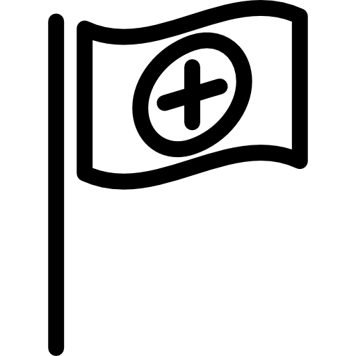 Flag With Cross Icons Free Download