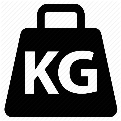 Kg, Kilo, Kilogram, Weight, Weight Unit Icon