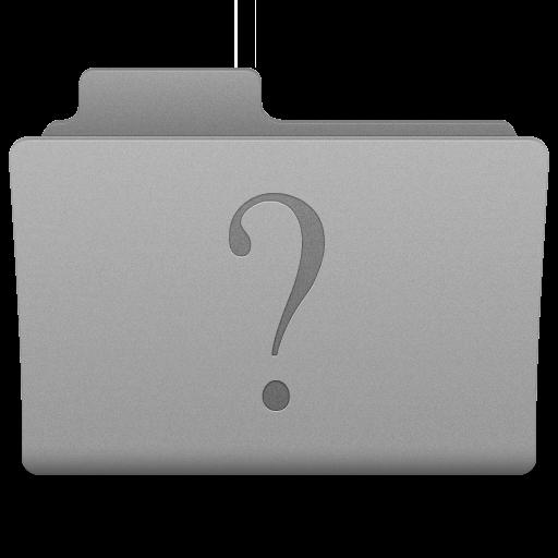 Grey Unknown Folder Icon